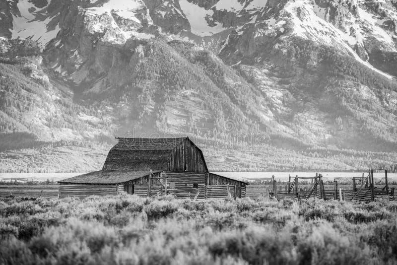 Storslagna Teton berg, Wyoming arkivbilder