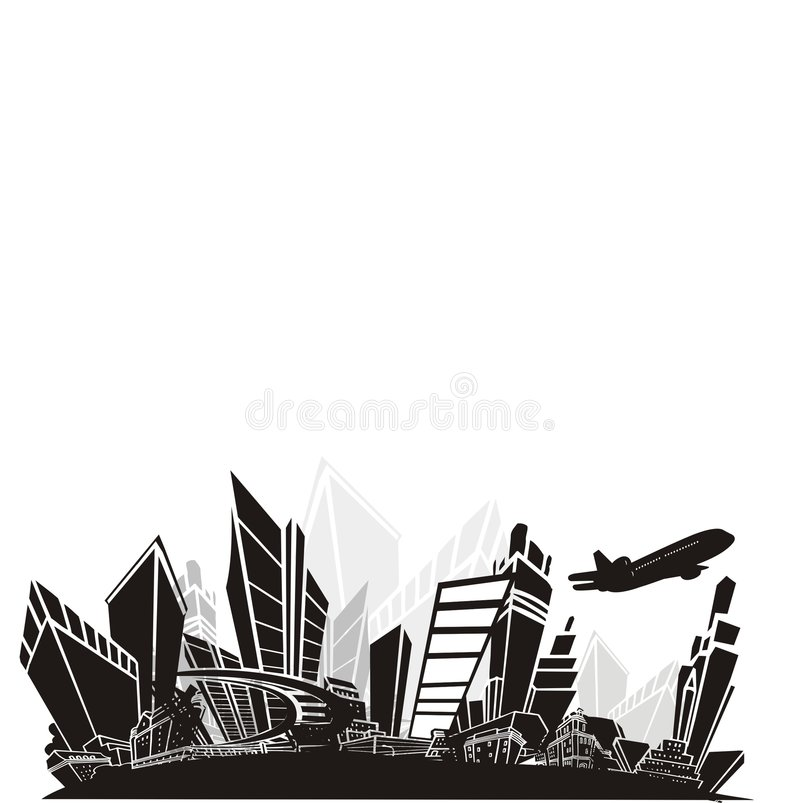 storstad royaltyfri illustrationer