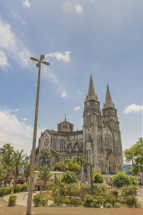 Storstads- domkyrka Fortaleza Brasilien arkivfoton