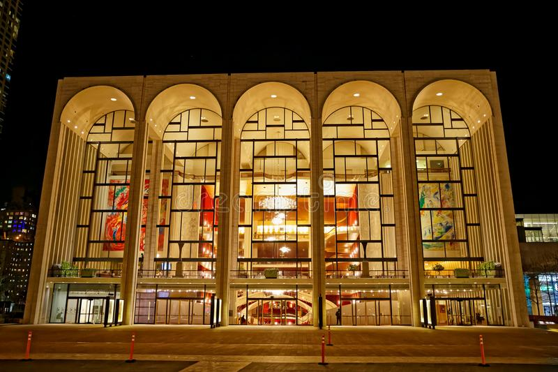 Storstads- operahus New York royaltyfria foton