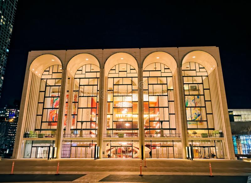 Storstads- operahus New York arkivbilder
