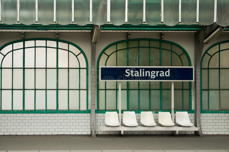 Storstads- station i Paris royaltyfria foton