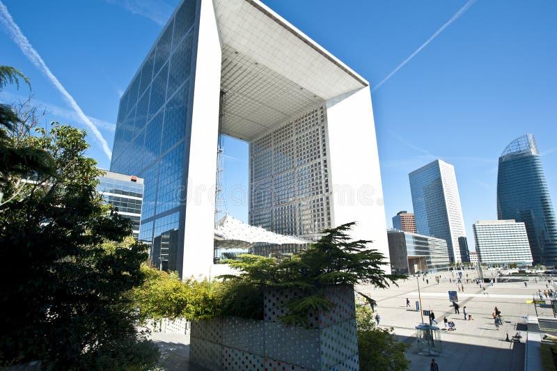Stort Arche för La försvar Paris royaltyfria foton
