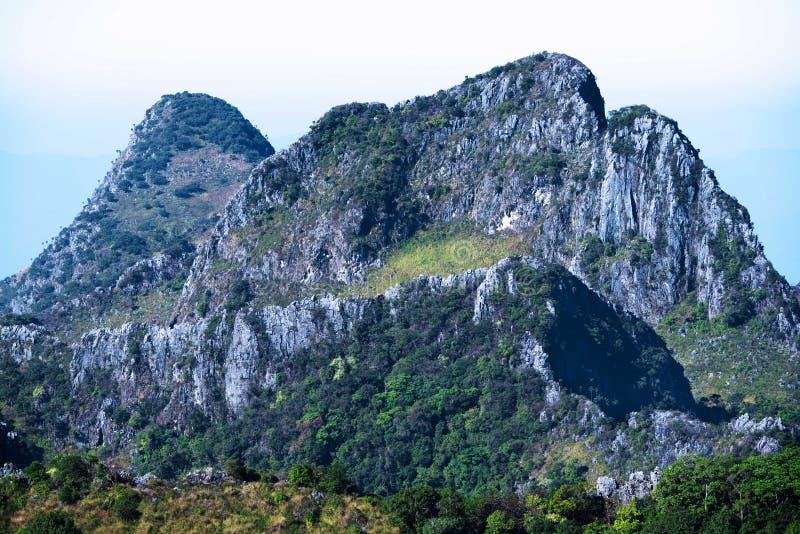 Stort berg för trekking royaltyfria bilder