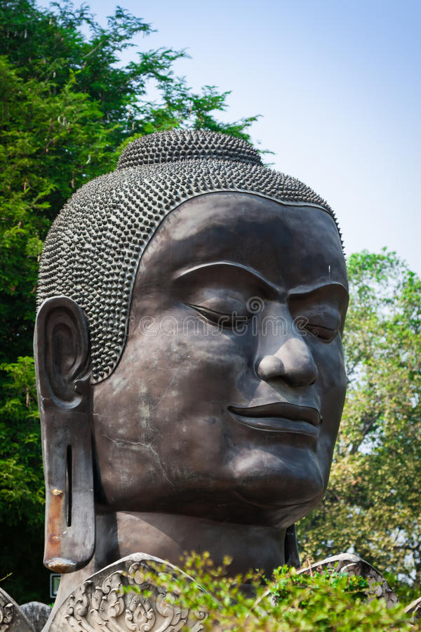 Stort buddha för bild huvud in fotografering för bildbyråer