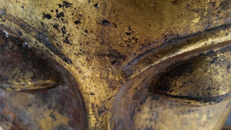 Stort buddha för Closeup öga royaltyfri foto
