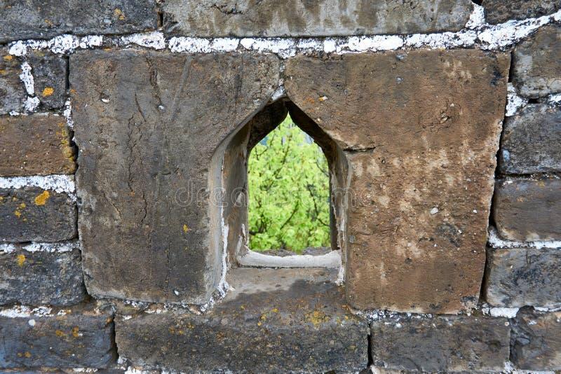 Stort fönster för kinesisk vägg royaltyfri foto