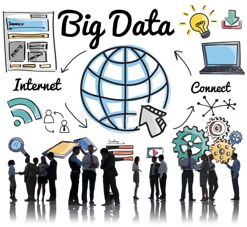 Stort för informationslagring om data begrepp för nätverkande för system royaltyfri foto