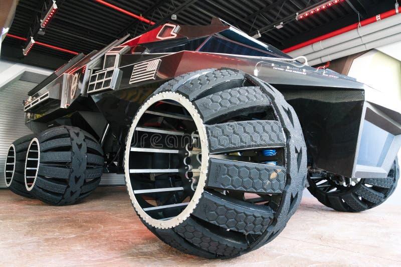 Stort fördärvar Rover Concept Vehicle arkivbild