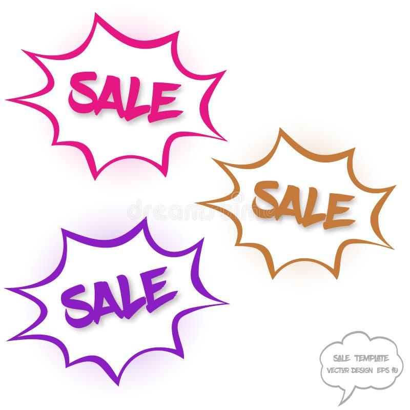 Stort försäljningsbegrepp i komikerbubblor royaltyfri illustrationer