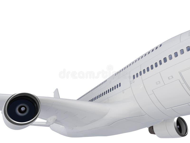 stort flygplan vektor illustrationer