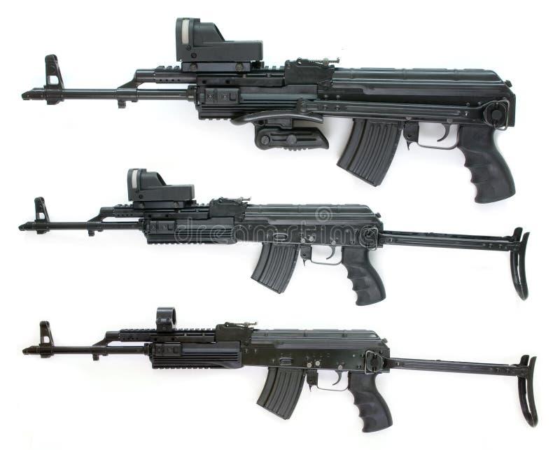 stort format för samlingskalashnikovbilder royaltyfri bild