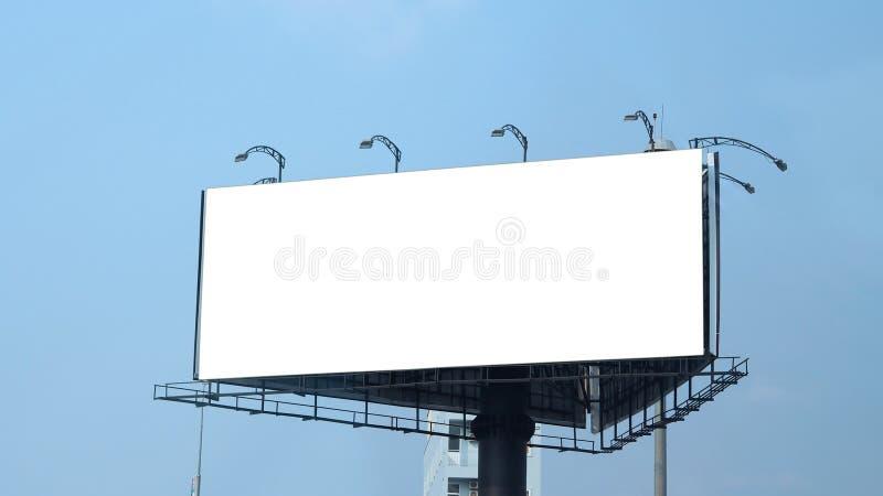 Stort format för tom affischtavla för utomhus- advertizing fotografering för bildbyråer