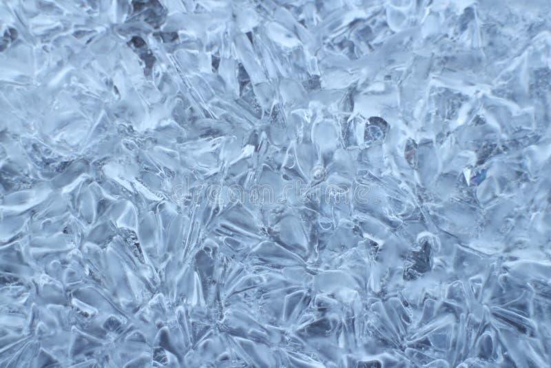 Stort fryst vatten för iskristaller arkivfoto