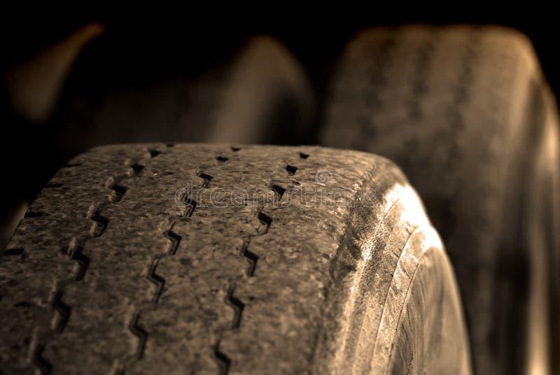 Stort gummihjul arkivbilder