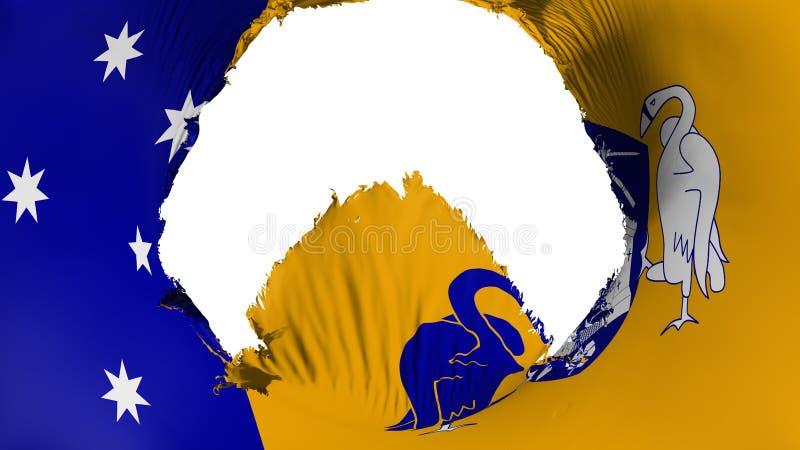 Stort hål i den Canberra flaggan royaltyfri illustrationer