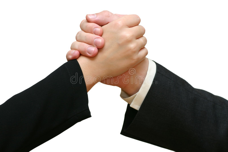 Stort Handskakningjobb Royaltyfri Fotografi