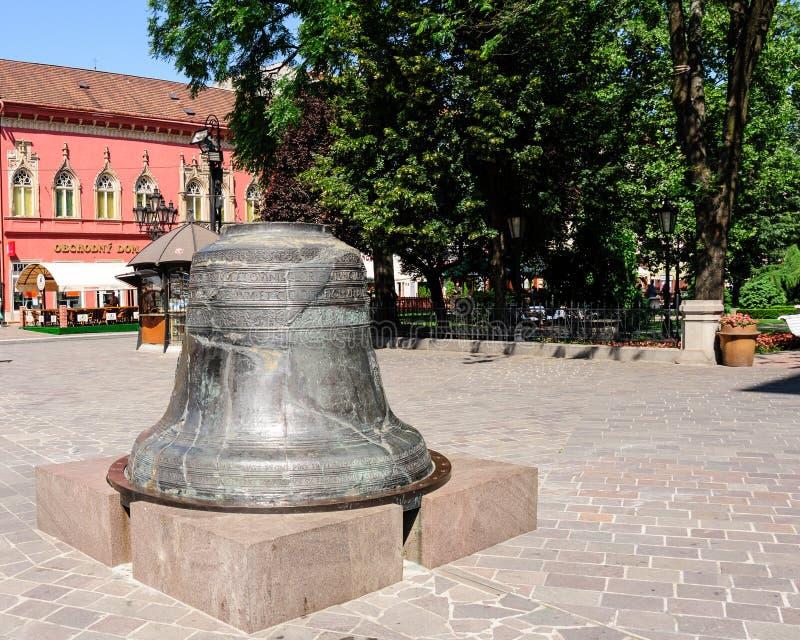 Stort helgon stads- Klocka i Kosice arkivbilder