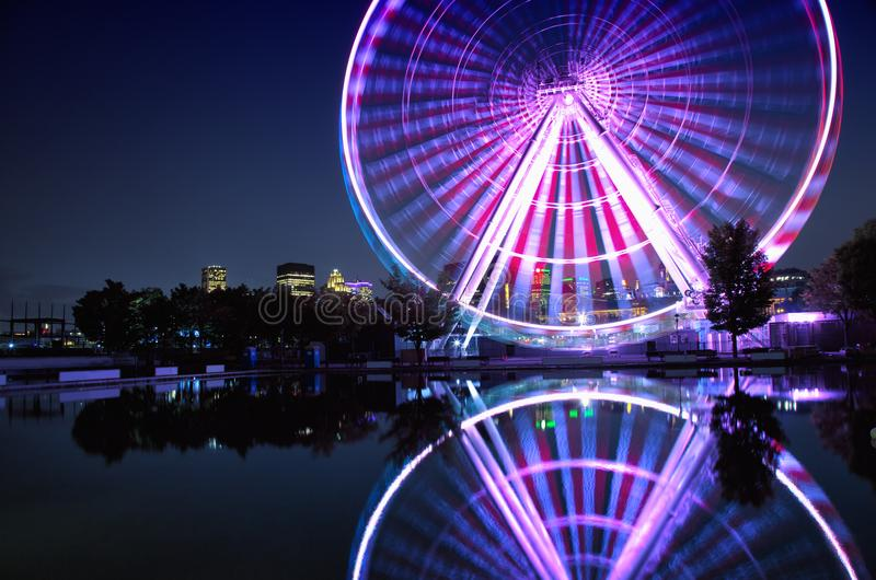 Stort hjul av Montreal royaltyfria bilder