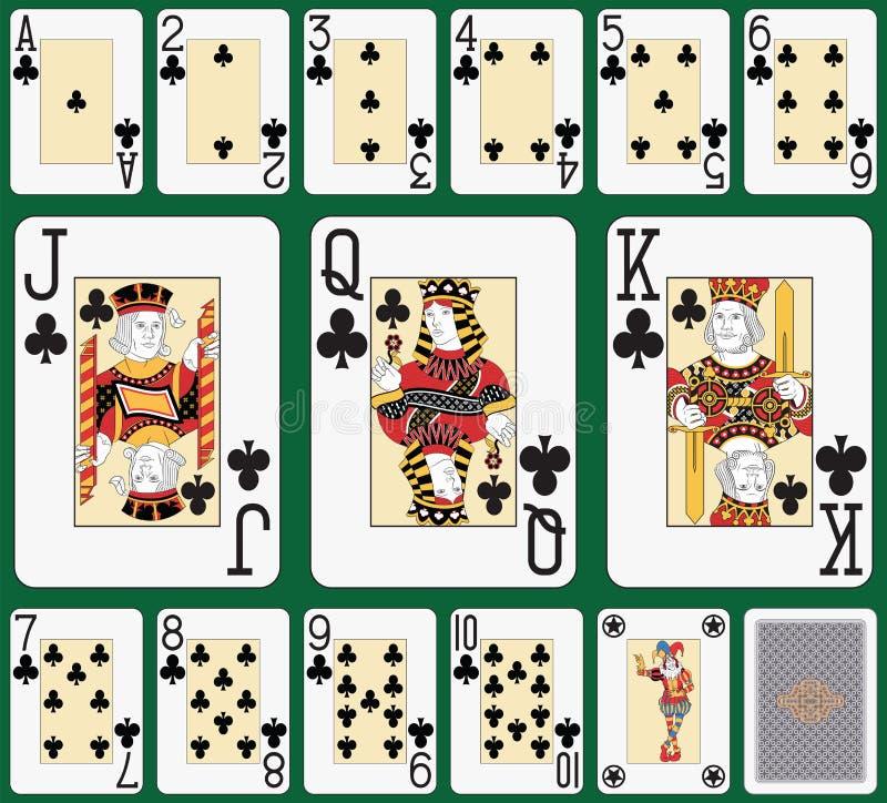 Stort index för blackjackklubbadräkt royaltyfri illustrationer