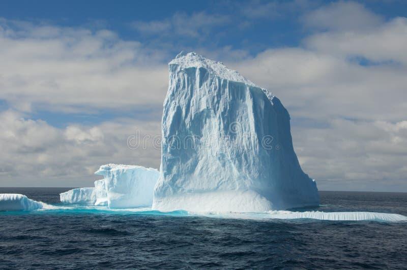 stort isberghav för antarctic arkivbild