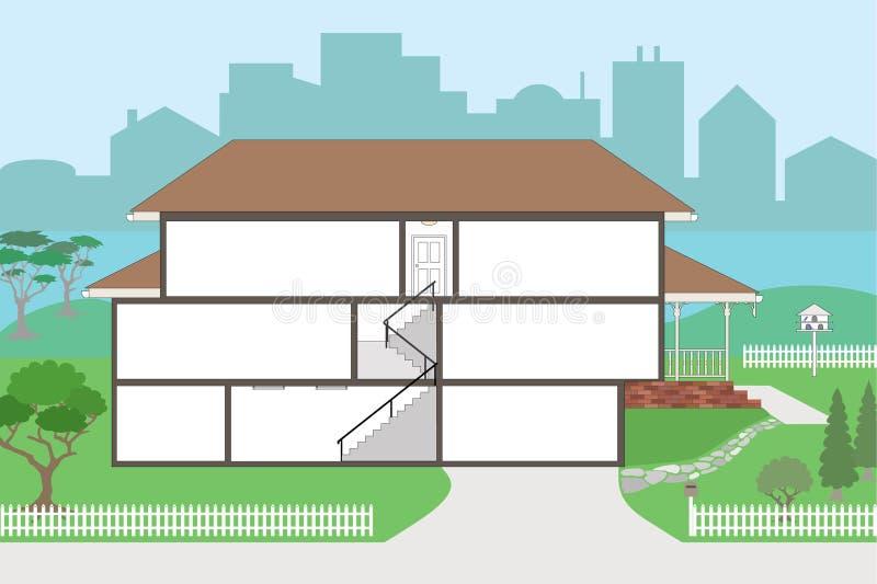 Stort jacketthus som är klart att dekorera stock illustrationer
