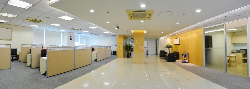 stort kontor royaltyfria foton