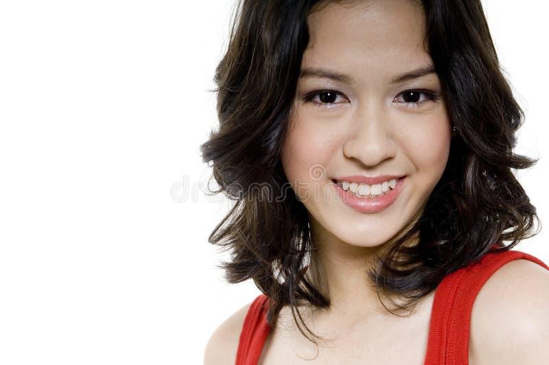 Stort leende på Teen royaltyfria foton