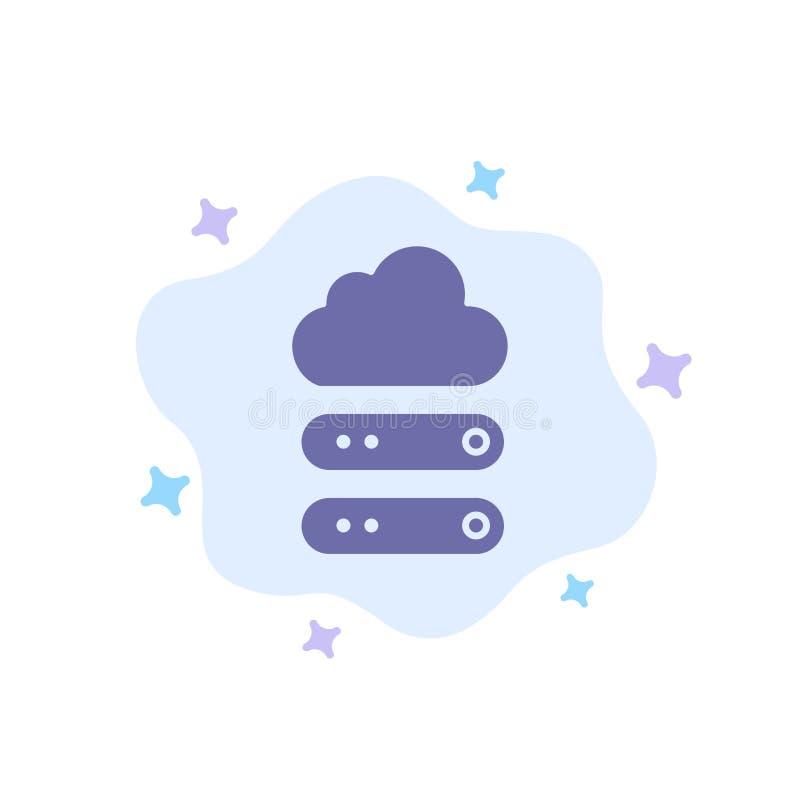 Stort moln, data, blå symbol för lagring på abstrakt molnbakgrund royaltyfri illustrationer