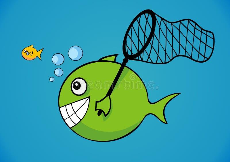Download Stort och little fisk vektor illustrationer. Illustration av fisk - 19776444