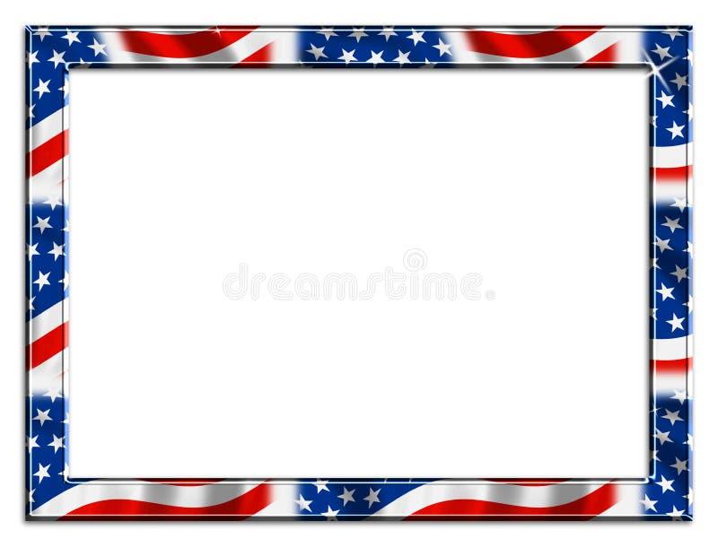 stort patriotiskt för kantram royaltyfri illustrationer