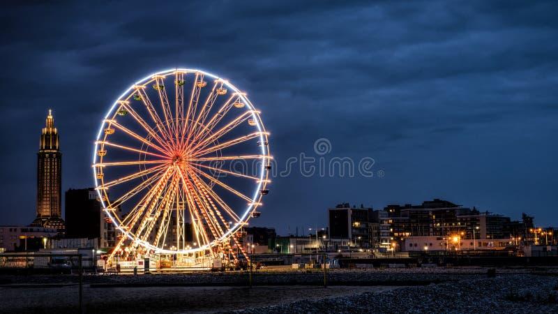Stort rulla in Le Havre royaltyfria bilder