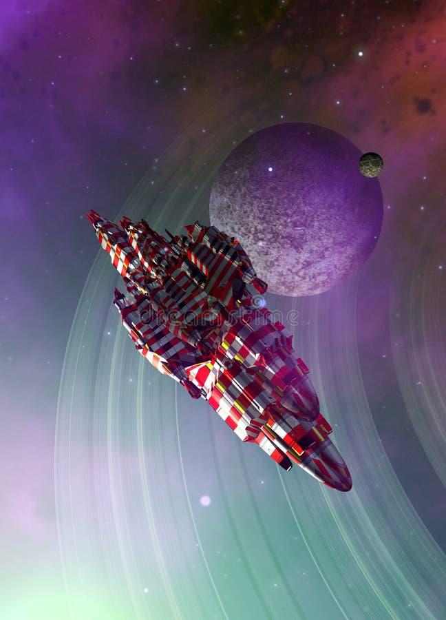 Stort rymdskepp stock illustrationer