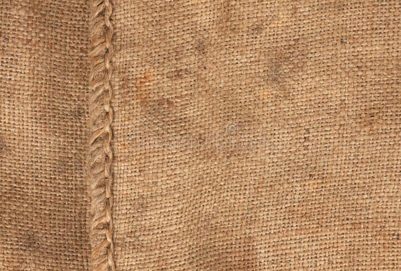 Stort skarv på sackcloth arkivbild