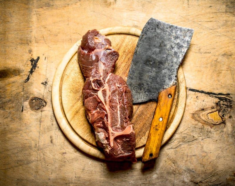 Stort stycke av nötkött arkivfoto