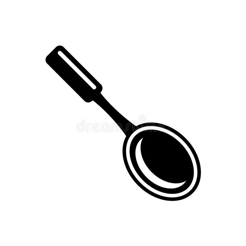Stort tecken och symbol för skedsymbolsvektor som isoleras på vit backgr royaltyfri illustrationer