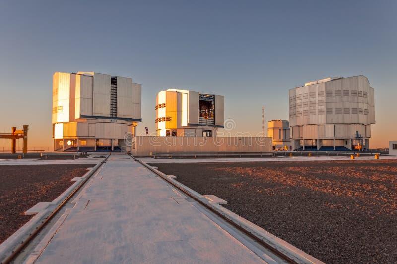 Stort teleskop Chile för europé mycket royaltyfri bild