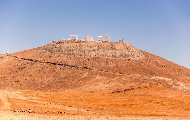 Stort teleskop Chile för europé mycket arkivbilder