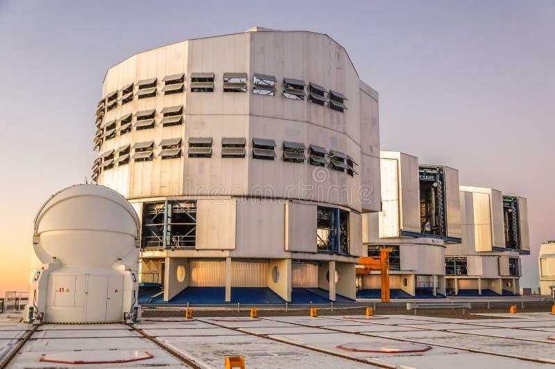 Stort teleskop Chile för europé mycket arkivfoto