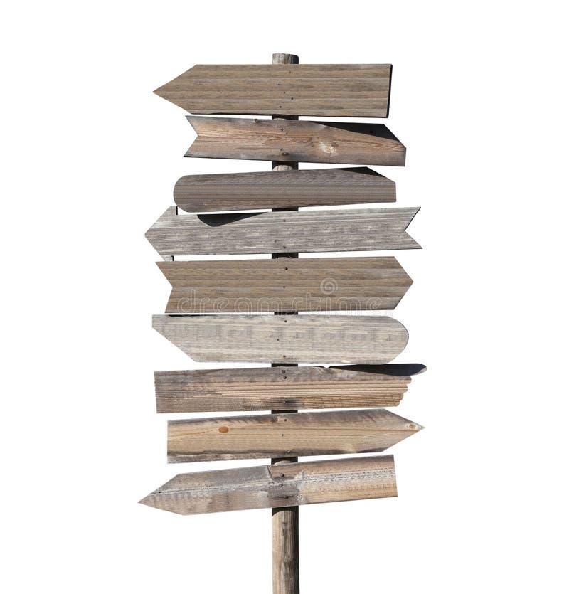 Stort tomt Wood piltecken arkivbild