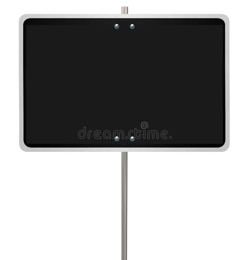 Stort utrymme för kopia för meddelande för tecken för varning för gata för mellanrumssvartväg royaltyfri illustrationer
