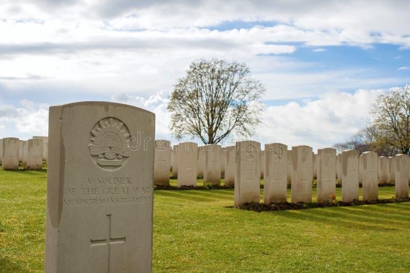 Stort världskrig ett flanders Belgien för kyrkogård royaltyfria foton