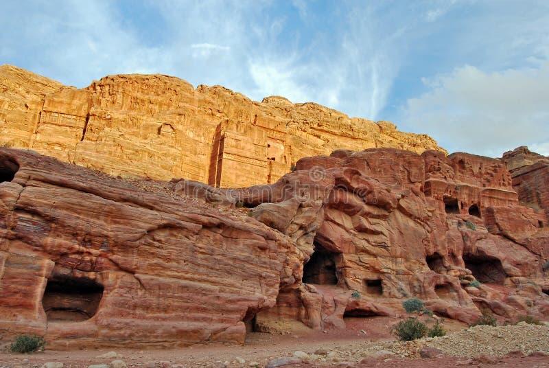Stort vaggar i Petra, Jordanien royaltyfri foto