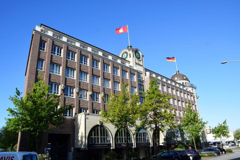 Stortebecker Haus - Kolom in een Rotonde stock foto's