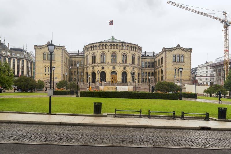 Storting, o parlamento de Noruega fotos de stock