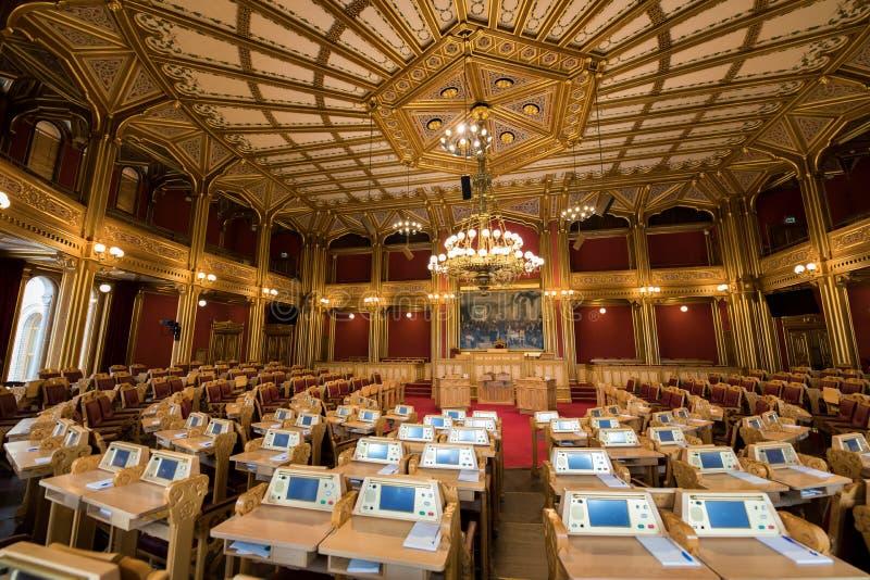 Storting que constrói o parlamento norueguês fotografia de stock