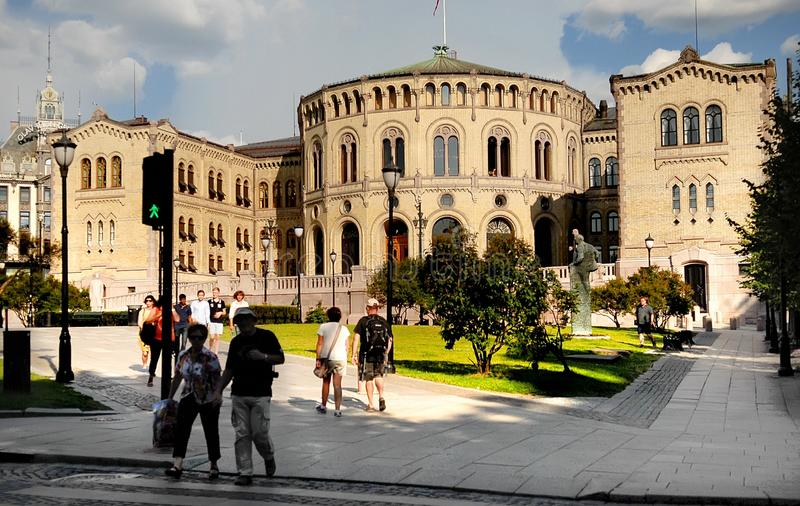 Stortinget, parlament Norwegia obraz royalty free