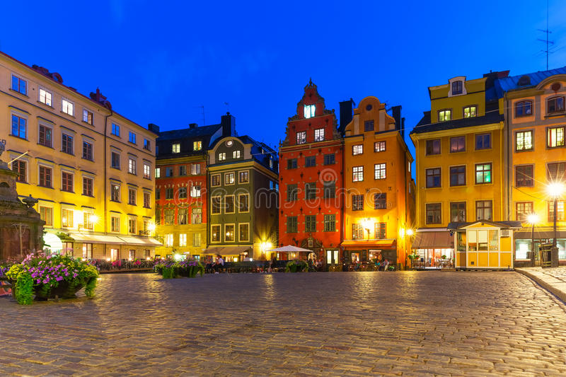 Stortorget in the Old Town of Stockholm, Sweden royalty free stock image