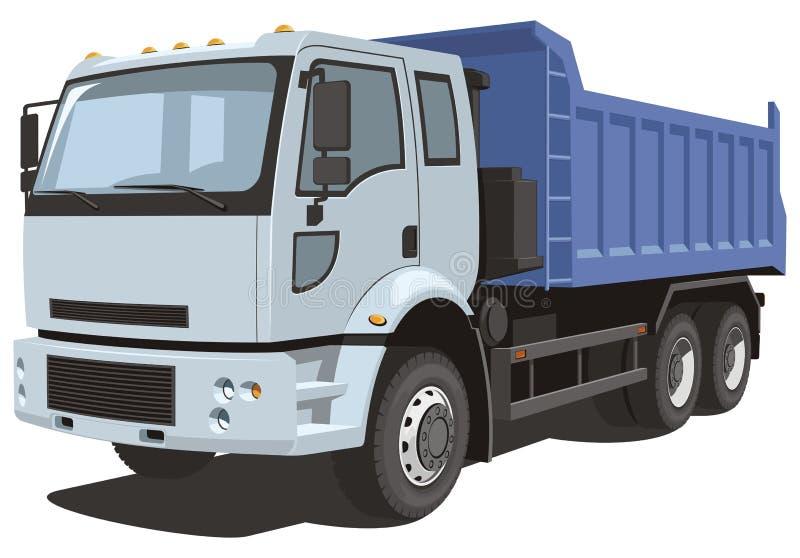 Stortplaatsvrachtwagen vector illustratie
