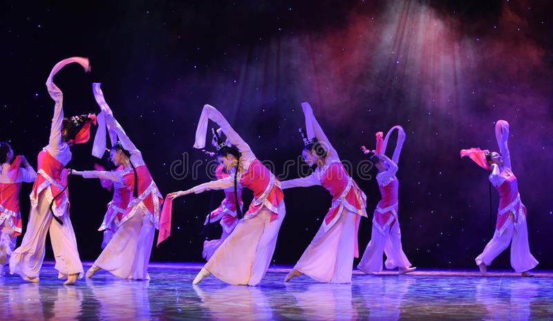 The story of the Academy-Liang Shanbo and Zhu Yingtai-Romeo and Juliet in China. June 10, 2015, the Jiangxi Vocational Academy of Art dance show performance royalty free stock images